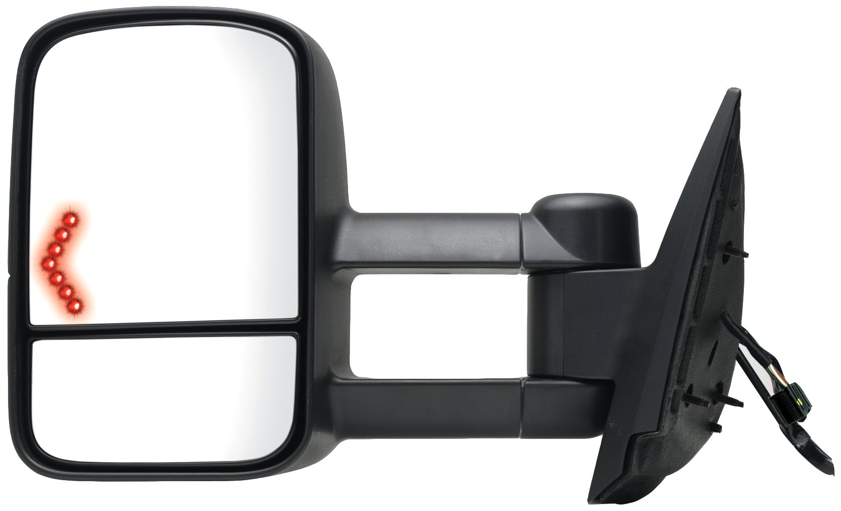 Fit System 62094G Chevrolet/GMC/Cadillac Driver Side Replacement Towing Mirror with Dual Glass and Turn Signal by Fit System