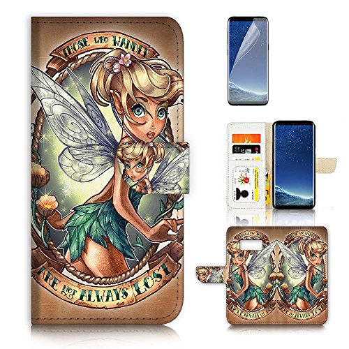 ( For Samsung S8+ / Galaxy S8 Plus ) Flip Wallet Case Cover & Screen Protector Bundle - A21066 TinkerBell (Tinkerbell Cell Phone Covers)