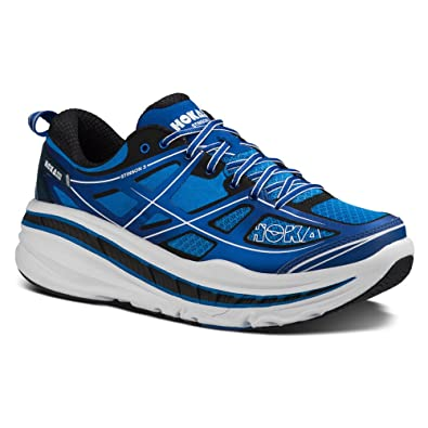 Hoka One One Mens Stinson 3 Running Sneaker Shoe, True Blue/White, US