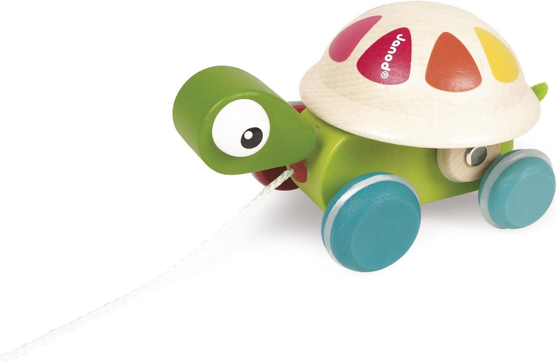 Janod - Zigolos Animal de madera para pasear, Tortuga (J08236): Amazon.es: Juguetes y juegos