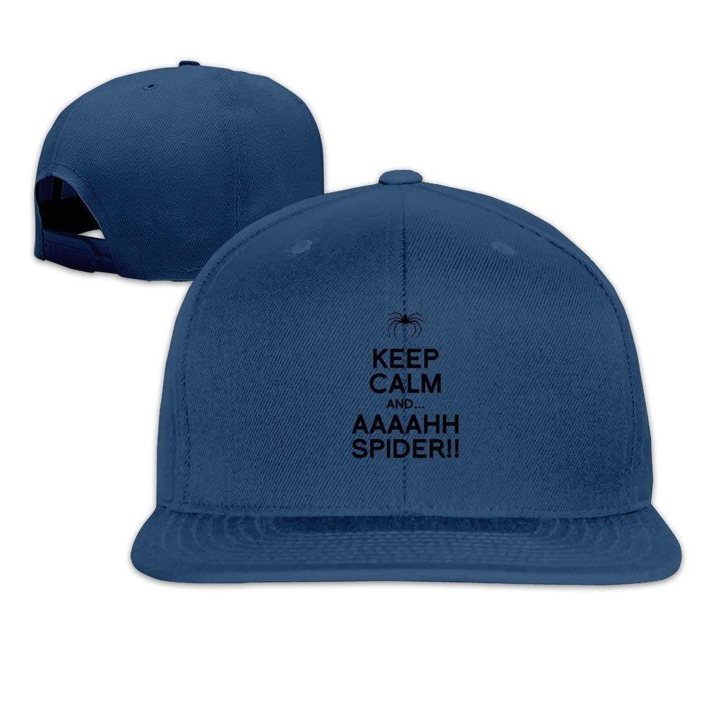 Runy Custom Keep Calm And AAAHH Spider Adjustable Baseball Hat & Cap Navy Cupsbags