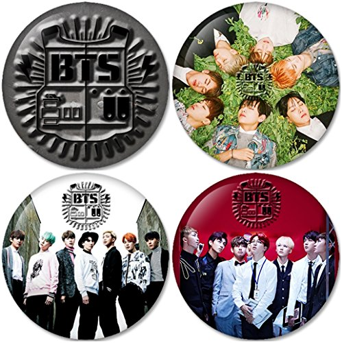 BTS SET 5 Buttons Badges/Pin 1.25 Inch (32mm)