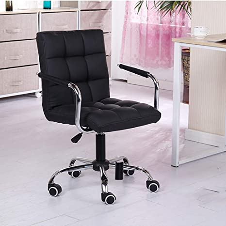 Groovy Amazon Com Mid Back Task Leather Chair Desk Unine Height Ncnpc Chair Design For Home Ncnpcorg