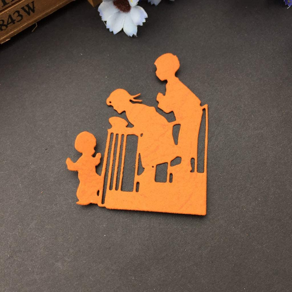 ANG-puneng Care Baby Metal Cutting Dies Stencil DIY Scrapbooking Album Stamp Paper Card Embossing Crafts Decor