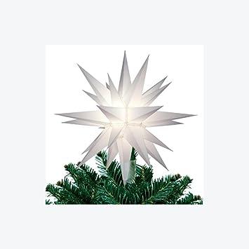 Stern Auf Weihnachtsbaum.Amazon De 30 5 Cm Erleuchtet Weiß Herrnhuter Stern Weihnachtsbaum