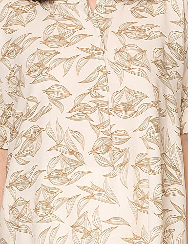Only Women's New Smart 2/4 Oversize Women's Creme Shirt With Print Viscose Off-White
