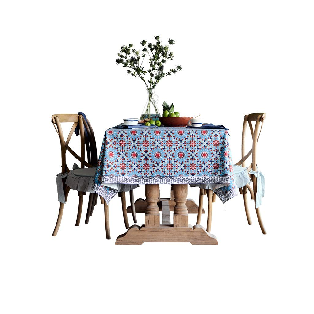 Gquan テーブルクロス60%コットン40%リネンプリントテーブルクロス30°水温清潔で低温アイロンがけサイズ4オプションのキッチンレストランパーティーピクニック屋内屋外用 (Size : 150*220cm) 150*220cm  B07SK5VM89