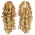 SWACC 12-Inch Short Screw Curls Claw Clip Ponytail Extensions Synthetic Clip in Drawstring Curly Ponytail Hairpiece Jaw Clip Hair Extension