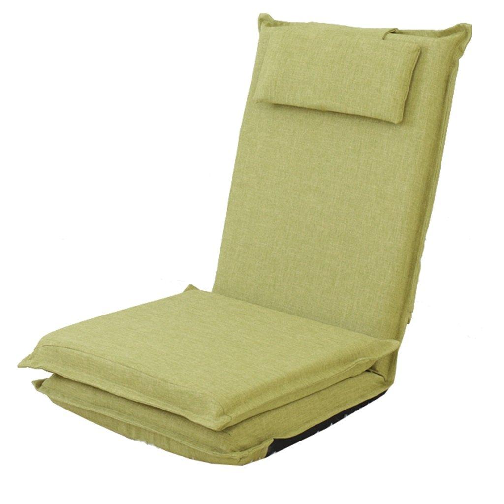 Unbekannt Bodenstuhl Liege-Bettsofa mit Dem Kissen, Faltende Tragbare Boden-Stühle Für Innenschlafzimmer