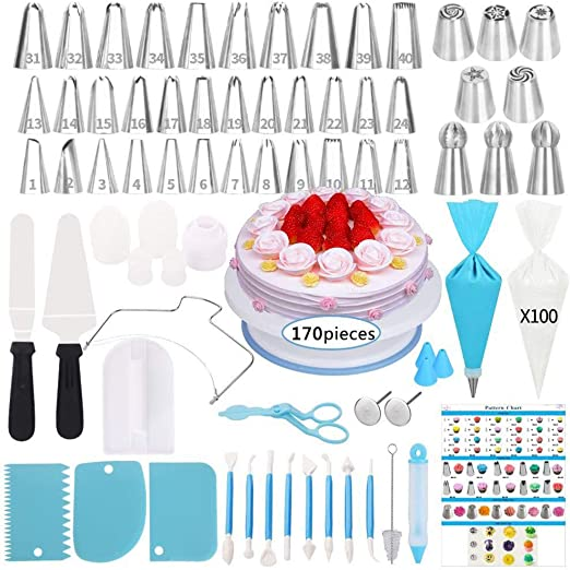 100 Pc Pastry Bag Confectionery Nozzle For Cake Confectionery Attachments Cakes