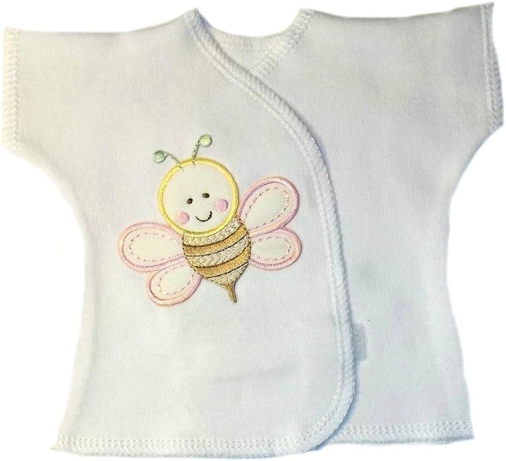 Jacquis Baby Girls Pretty Pink Roses Kimono Wrap T-Shirt
