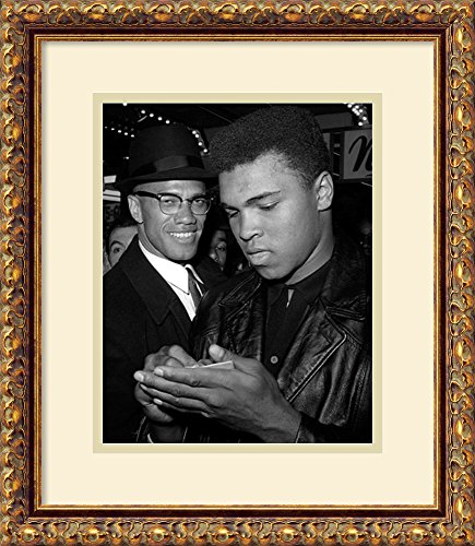 Muhammad Ali and Malcolm X, NYC, March 1, 1964 by McMahan Photo Archive Framed