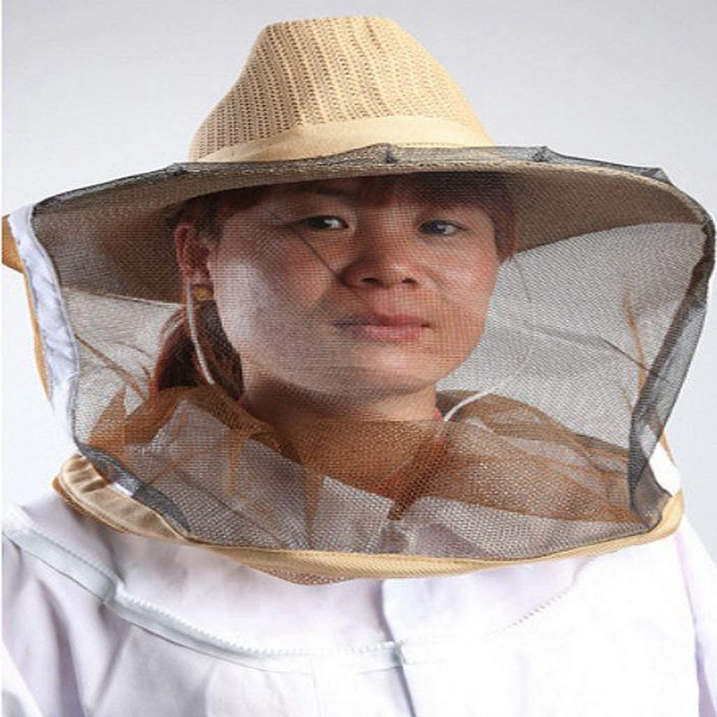 Dailymall 2x Beekeeping Garden Hat Anti Mosquito Bee Veil Head Breathable Guard