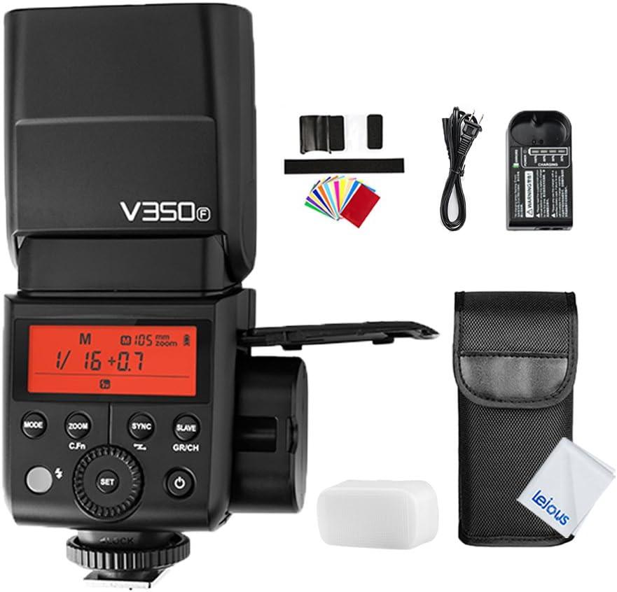 2X GODOX V350F 2.4G TTL Camera Flash Speedlite with Li-ion Battery XPro-F TTL Wireless Flash Trigger for Fuji Fujifilm GFX50S X-Pro2 X-T20 X-T2 X-T1 X-Pro1 X-T10 X-E1 X-A3 X100F X100T