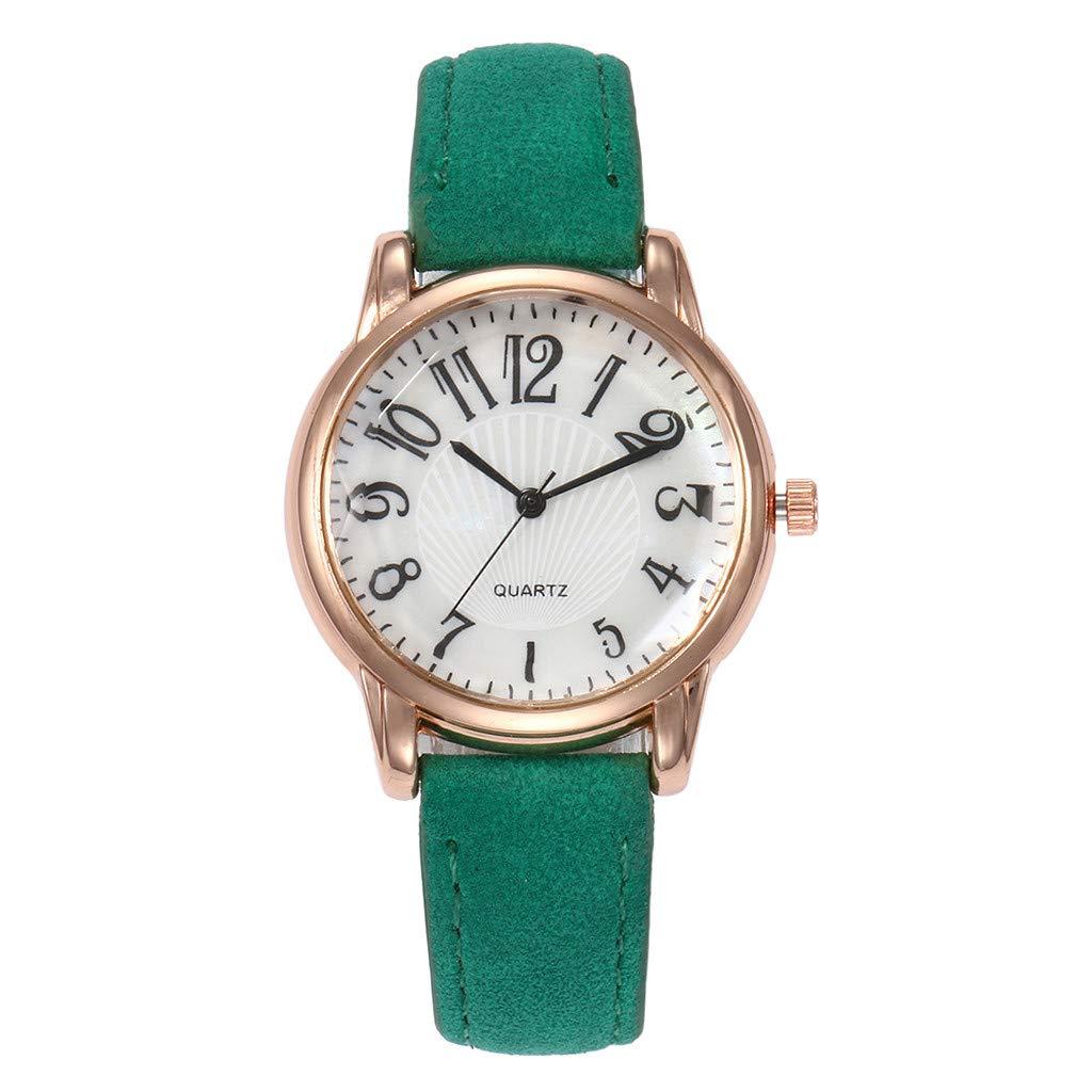 1fe93b83c787c Amazon.com: chengzhijianzhu_ Quartz Watches Ladies Fashion 2019 Letter  Beautiful Simple Watch Ladies Leather Belt Watch Gift for Teen Girls Men  Women Gift: ...
