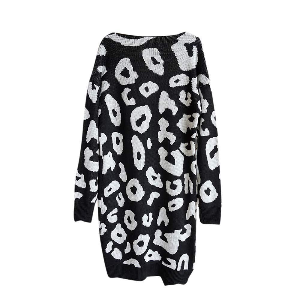 Amazon.com: Fashion Women Knitted Print Long Sleeve Cardigan T-Shirt Tops Sweater Coat by Teresamoon: Kitchen & Dining