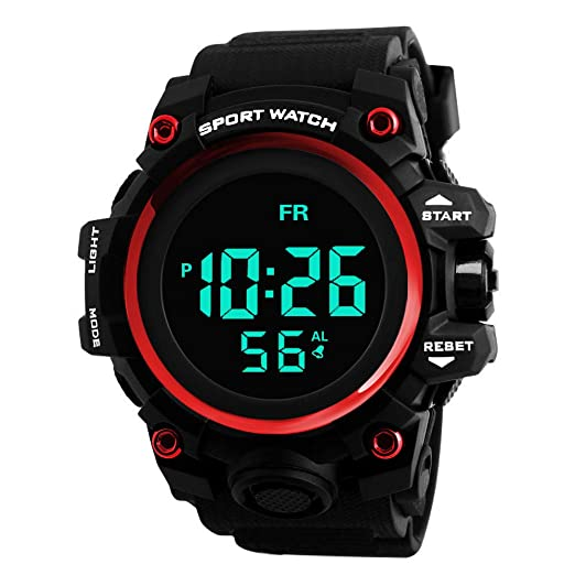 Sport Watches for Men DYTA LED Digital Watches 5ATM Water Resistant Outdoor Watch on Sale on