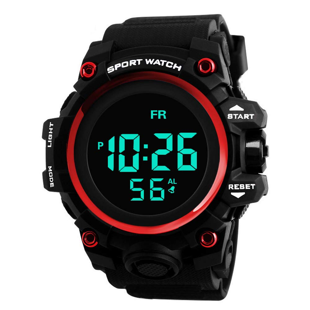 Sport Watches for Men DYTA LED Digital Watches 5ATM Water Resistant Outdoor Watch on Sale on Clearance Military Quartz Watchs with Rubber StrapSilicone Case Relojes De Hombre