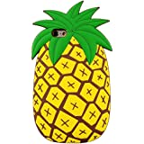 iPhone 6S Plus Case, MC Fashion Cute Vivid 3D Summer Fruit Pineapple Soft Silicone Phone Case for iPhone 6S Plus (2015) & iPhone 6 Plus (2014) (Pineapple)