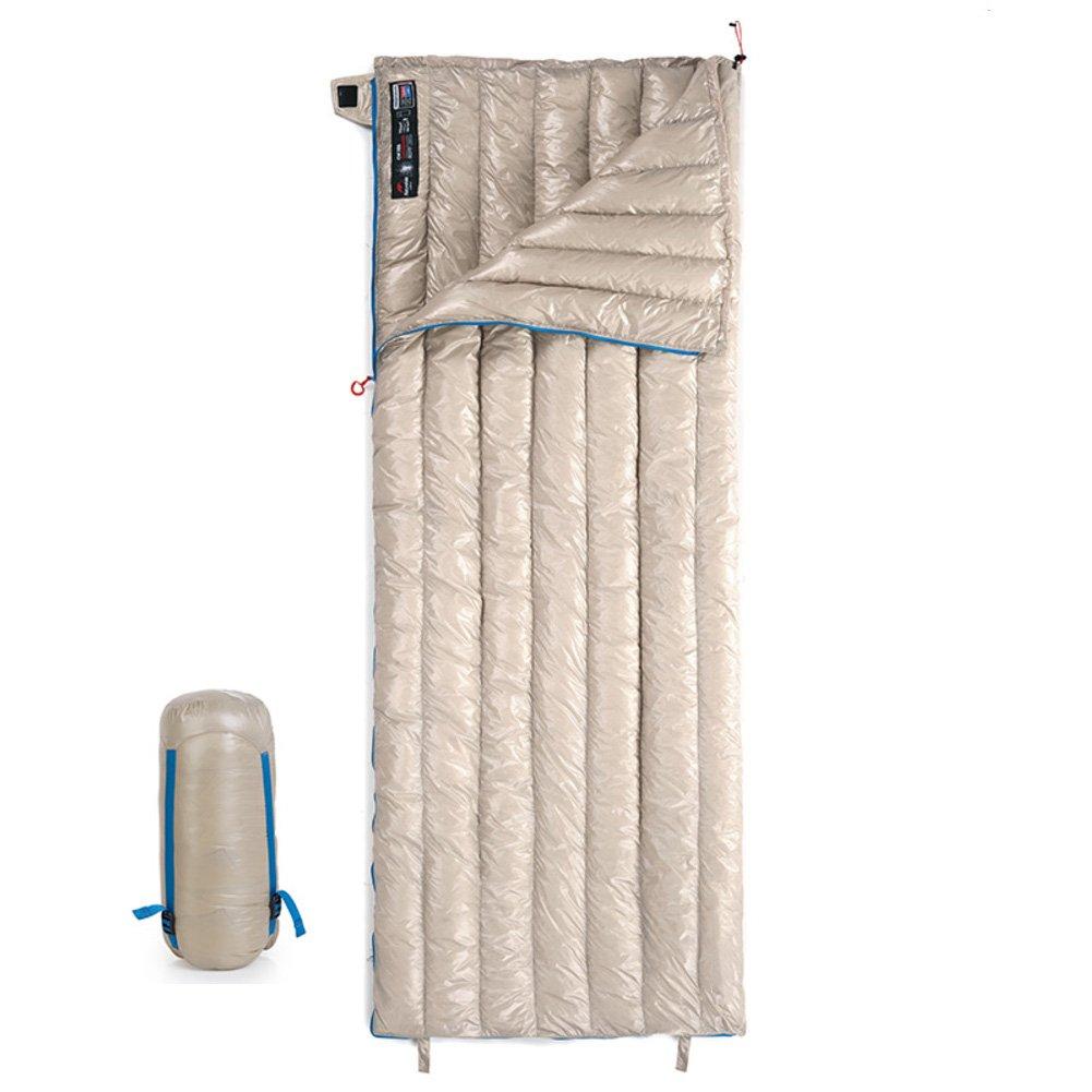 超軽量 ダウン 寝袋封筒型 暖かい季節には 大人 連結可能 スリーピングバッグ 圧縮袋 キャンプ アウトドア 登山 車中泊 防災用 災害時 避難用 B07DYNS124  カーキ