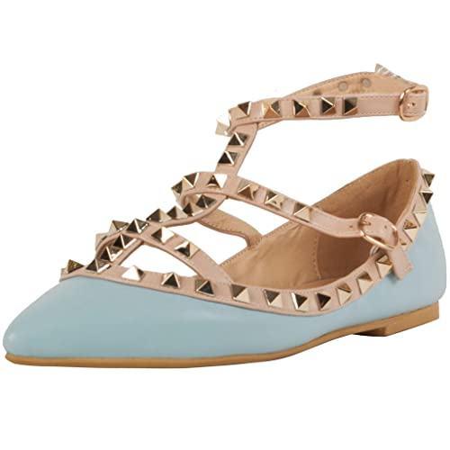 Borchie Ankle Rivet Modo Canever Sexy Strap T Point Calaier Donna Y4qBTT
