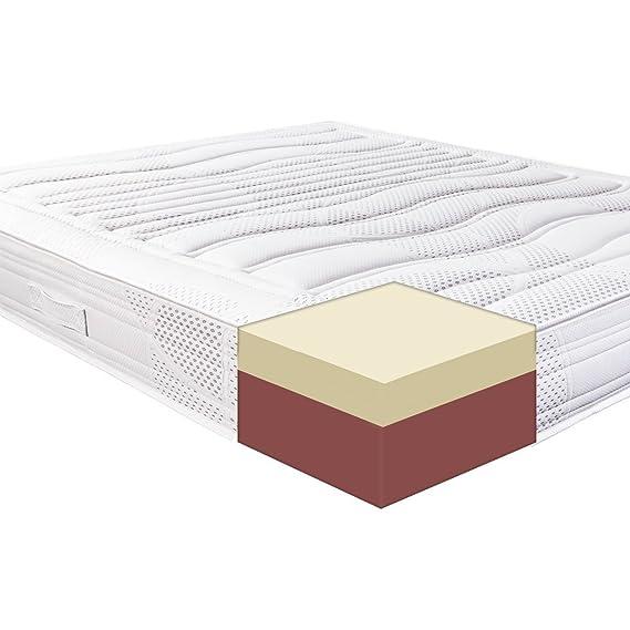Materassi&Doghe M&D - Memory Foam colchón con 11 Diferentes Zonas - 7 cm Memory Foam - Certificado de Producto Medicinal - 100% Made in Italy - Poli Foam ...