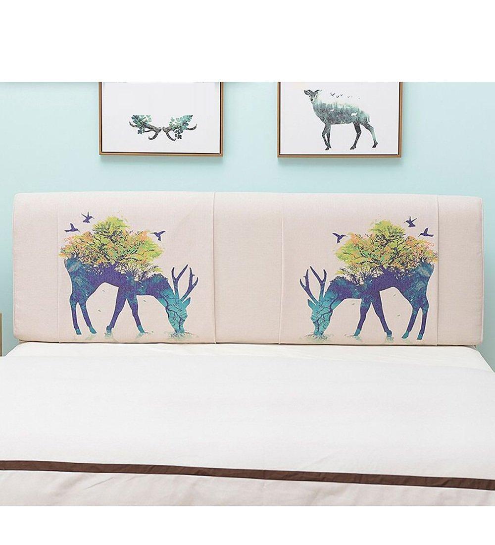 LIQICAI Créatif Tête de lit Coussin Dossier pour Unique - Double - Grande taille- Lit Têtes de lit Couverture Lavable