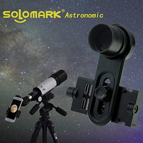 Solomark 1.25inch Universal Smartphone Eyepiece Adapter - 10mm Kellner Eyepiece Design by SOLOMARK