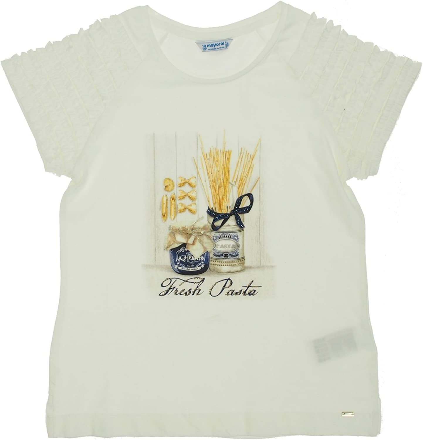6026 S//s t-Shirt for Girls Mayoral Navy
