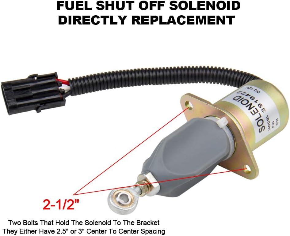 Fuel Shut Down Of Solenoid Fits:Ford 5.9L 8.3L Cummins Diesel 2-1//2 Bolt Yanmar