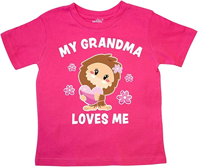 inktastic My Great Grandma Loves Me with Bigfoot Toddler Long Sleeve T-Shirt