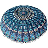 YJYdada Large Mandala Floor Pillows Round Bohemian Meditation...