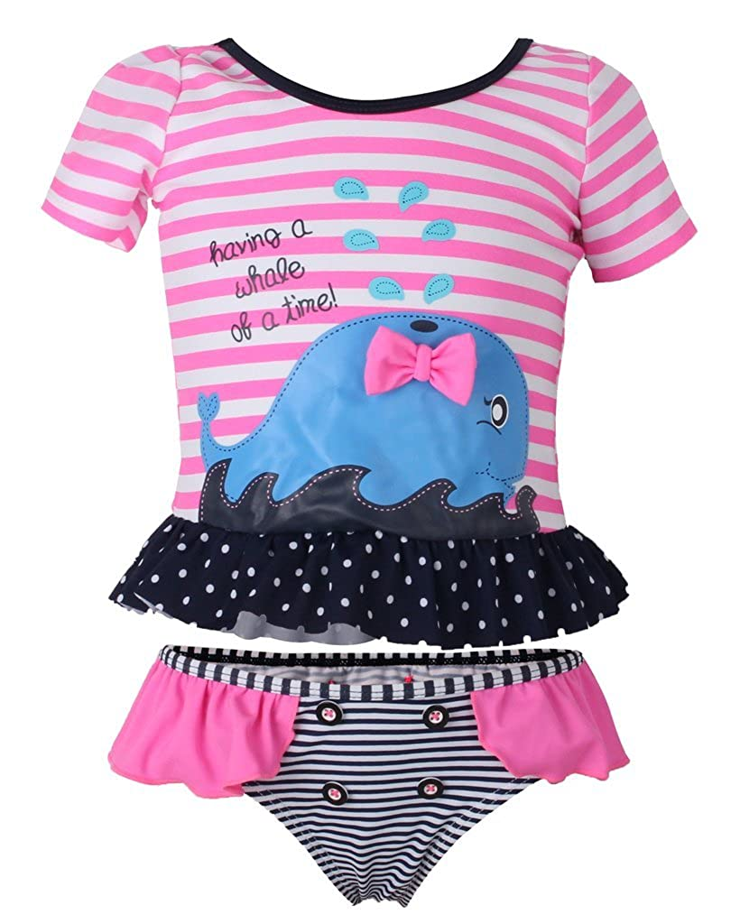 Dalary Short Sleeves Cartoon Baby Girl's Two Pieces Swimsuits Three Babies_345
