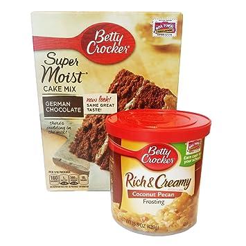 amazon com betty crocker butter german chocolate cake mix and