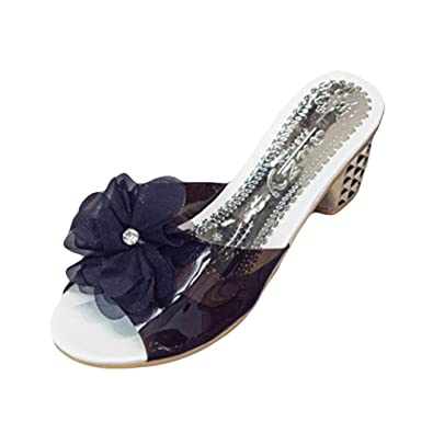 94ac40b0095a9 Lolittas Summer Beach Diamante Jewelled Sandals for Women Ladies Size  2-5,Studded Flower
