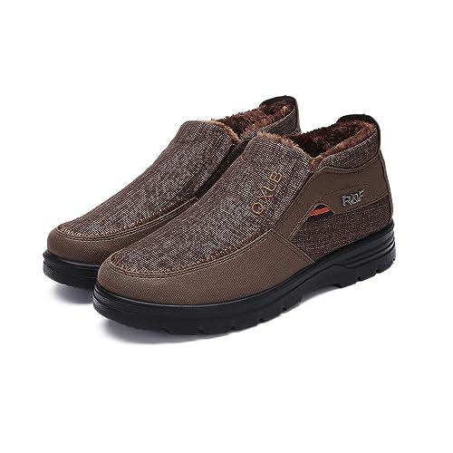 Zapatos Mujer Verano 2018 Sandalias Vestir Zapatos De Algodón De Los Hombres De Invierno Engrosamiento Y Terciopelo Caliente Zapatos Casuales: Amazon.es: ...
