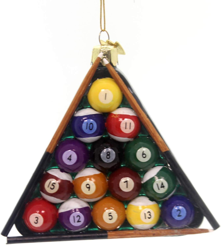 Kurt Adler Noble Gems bolas de billar triángulo adorno: Amazon.es ...