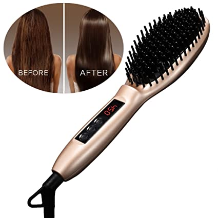 Cepillo para alisado, [Auto Lock] pictek cepillo de cabello ...