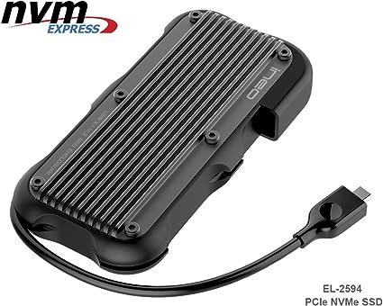 ElecGear USB 3.1 Gen2 Impermeable Caja de Carcasa para NVMe PCIe M ...