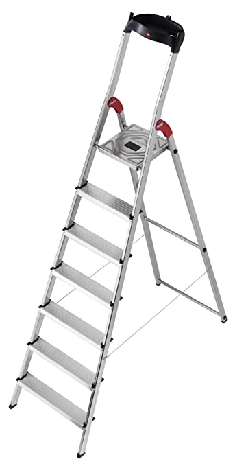 14 opinioni per Hailo 8507-001 L60 Scala di sicurezza in alluminio, 7 gradini con piatto