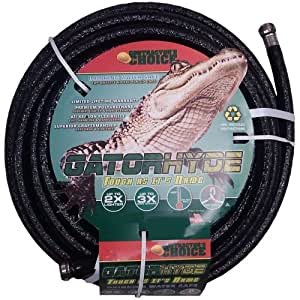 Contractor's Choice GATORHYDE58X75NBLK 5/8in. x 75ft. Drinking Water Safe Garden Hose, Black