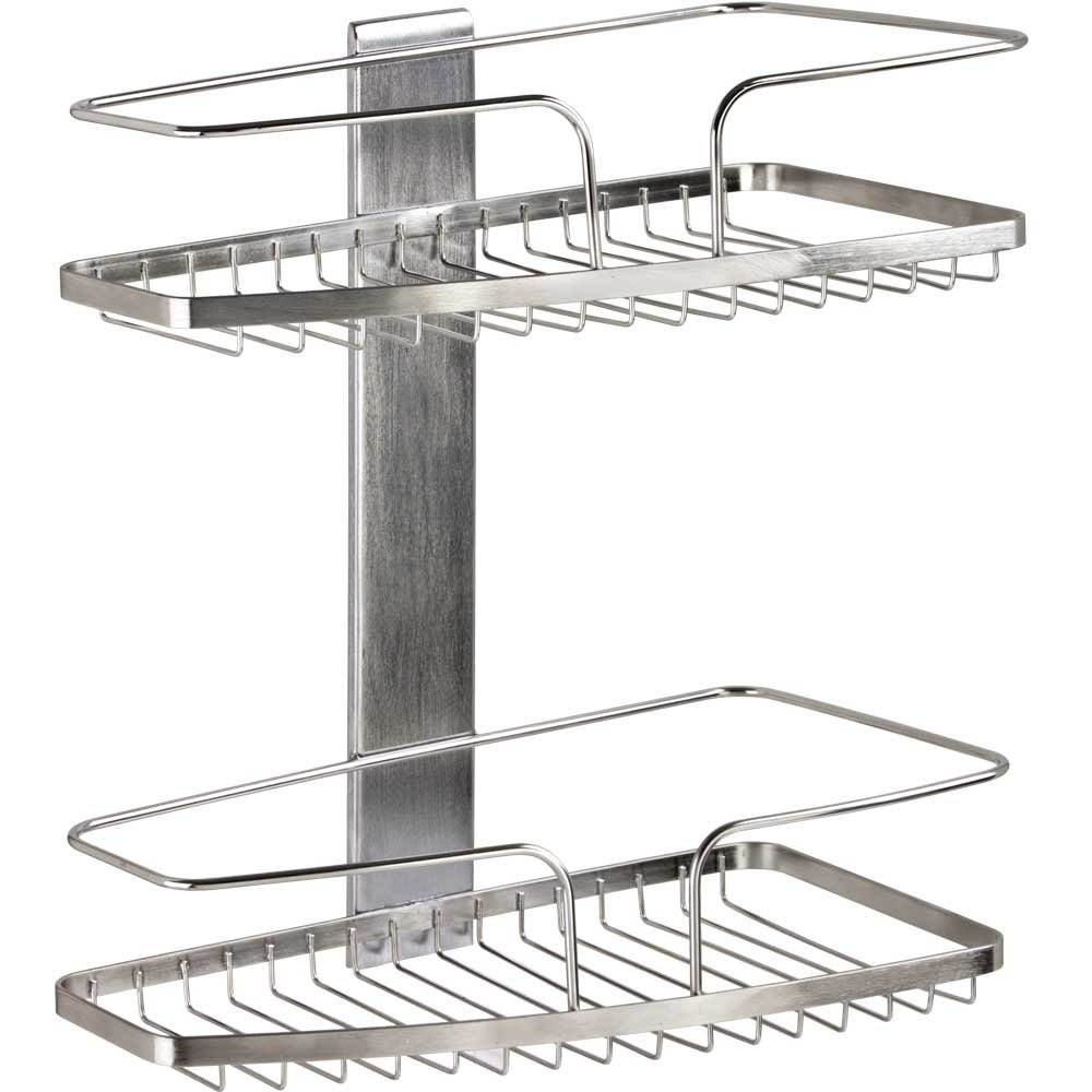 amazon com better living products 13403 fineline 2 tier basket amazon com better living products 13403 fineline 2 tier basket shower organizer home kitchen