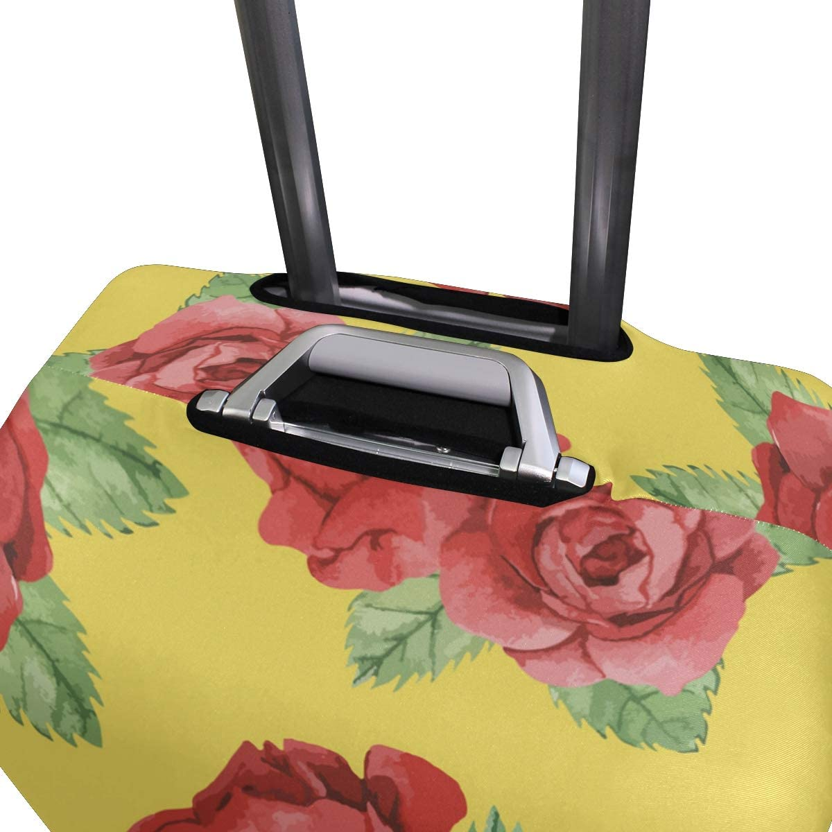 3D Watercolor Red Rose Print Luggage Protector Travel Luggage Cover Trolley Case Protective Cover Fits 18-32 Inch