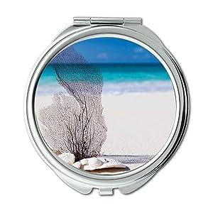 Mirror,Compact Mirror,beach nature ocean,Pocket Mirror,portable mirror