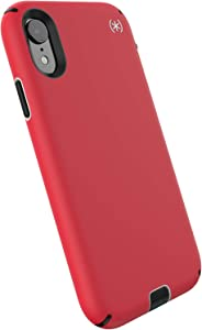 Speck Products Compatible Phone Case for Apple iPhone XR, Presidio Sport Case, Heartrate Red/Sidewalk Grey/Black