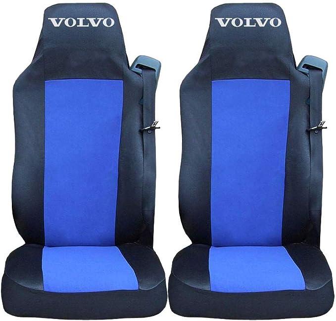 Autocommerse Set 2 Stück Sitzbezüge Schonbezüge Bezüge Für Lkw Lastwagen Hgv Euro 6 Lhd Schwarz Und Blau Auto
