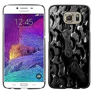 "For Samsung Galaxy S6 , S-type Cadena Piñones Bike"" - Arte & diseño plástico duro Fundas Cover Cubre Hard Case Cover"
