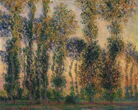 [high quality polyster Canvas ,the Beautiful Art Decorative Prints on Canvas of oil painting 'Claude Monet,Poplars at Giverny, 1887', 8x10 inch / 20x26 cm is best for Foyer gallery art and Home gallery art and] (Nerd Costumes At Party City)