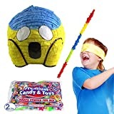 Pinatas Scream Emoji Icon Pinata Kit Including Pinata, Buster Stick, Bandana and Candy Filler, 2 lb.