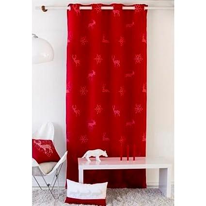 Tende Per Casa In Montagna.Tende Oscuranti Montagna Forest Rosso 135 X 240 Cm Amazon